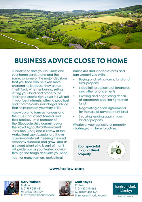 Agriculture and Rural Affairs – Agricultural Property
