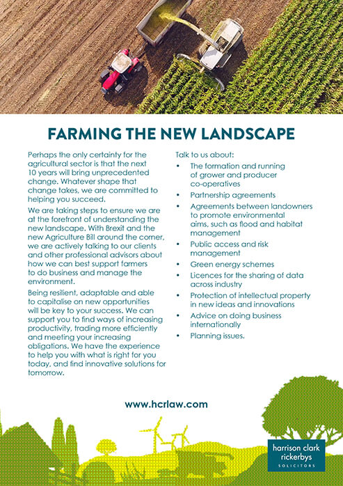 Agriculture and Rural Affairs – Farming the landscape