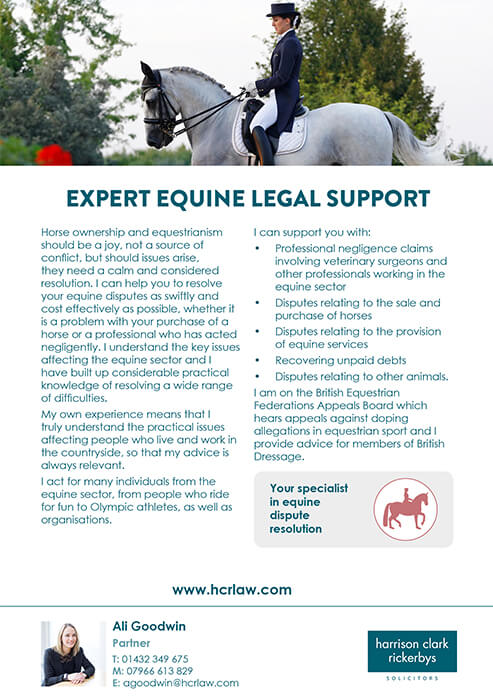 Agriculture and Rural Affairs – Equine