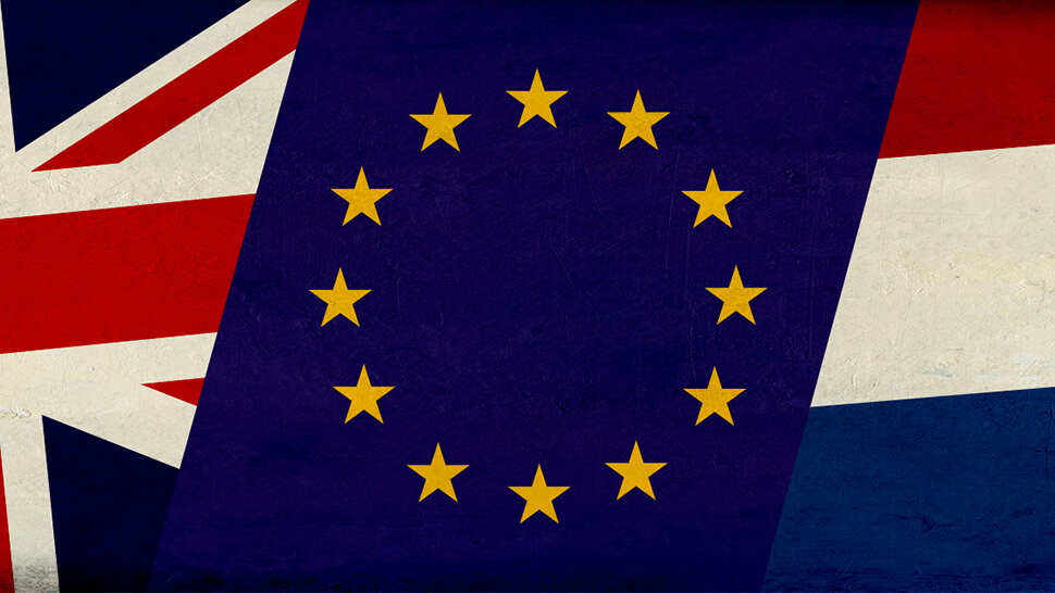 Flag of United Kingdom, Holland and the EU