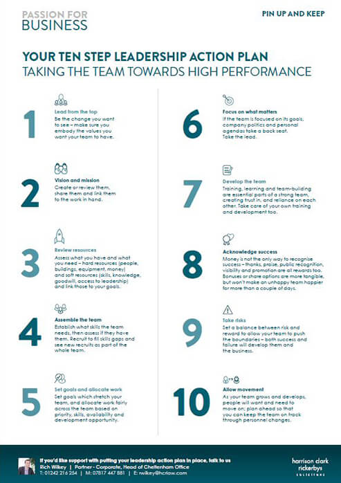 Your Ten Step Leadership Action Plan