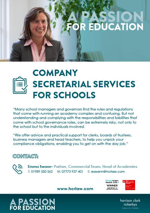 Company Secretarial Services for Schools