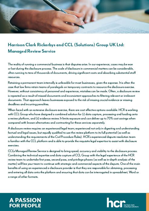 CCL HCR Document Managent