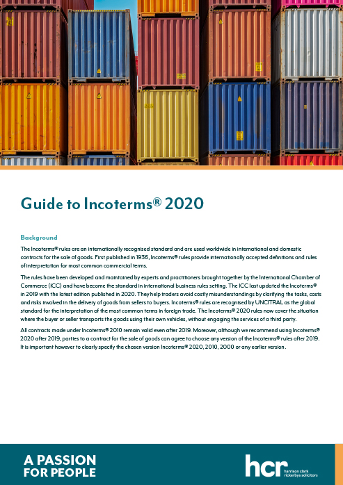 HCR Incoterms Guide